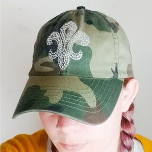 Accessories - $8 End of Summer Sale Crystal Camo Print Ball Cap